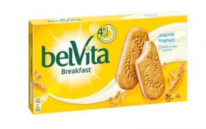 Цельнозерновое печенье с йогуртовой начинкой Belvita Jogurtti 253гр