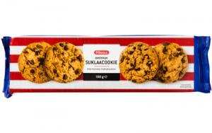 Цельнозерновое печенье Американское с кусочками шоколада Pirkka Amerikan 150гр