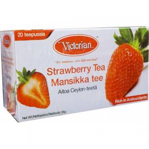 Черный чай Victorian клубничный 20пак.