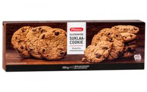 Печенье без глютена с кусочками шоколада Pirkka gluteeniton suklaacookie 9шт./150гр