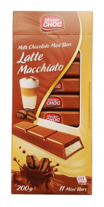 Шоколад  молочный Mister Choc с начинкой Latte Macchiato 200гр