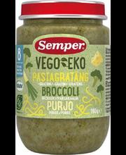 Органическая паста c брокколи и луком пореем с 8 месяцев Semper Vego EKO 190гр