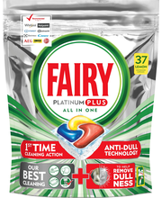 Капсулы для посудомойки Fairy Platinum Plus All in One, Lemon 37шт.