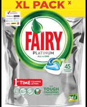 Капсулы для посудомойки Fairy Platinum All in One Original 45шт.