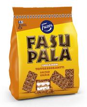 Вафли в шоколаде с соленой карамелью Fazer Fasupala Suolainen toffee 215гр