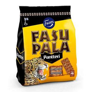 Вафли в шоколаде с лакричной начинкой Fazer Fasupala Pantteri 215гр