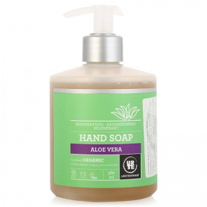 Восстанавливающее, органическое мыло для рук с алоэ вера Urtekram 380мл