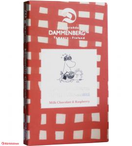 Молочный шоколад с малиной, без глютена Dammenberg Moomin Raspberry 70гр