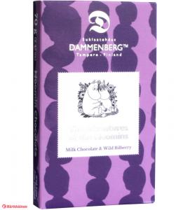 Молочный шоколад с черникой, без глютена Dammenberg Moomin  70гр