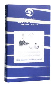Молочный шоколад с соленой ириской, без глютена Dammenberg Moomin  70гр