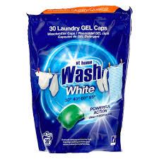 Капсулы для стирки белого белья Home wash White 30кап.
