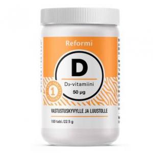 Витамин Д 3 (без вкуса) Reformi vitamin D 50mg 100кап.