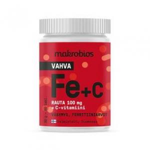 Железо Macrobios Strong Iron 100мг + C Vitamin 60таб.