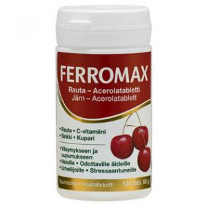 Железо, витамин С, цинк и медь Ferromax 120кап.
