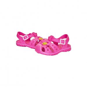 Тапочки резиновые закрытые детские, розовые размер 24-29