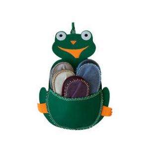 Набор гостевых тапочек  5пар (лягушка)