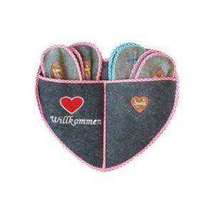 Набор гостевых тапочек Laplandia 5пар (сердце)