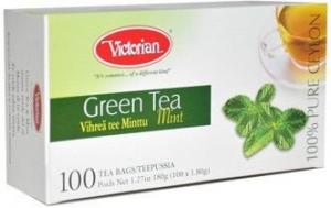 Зеленый чай Victorian Mint мята 100пак