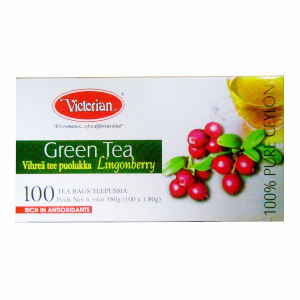 Зеленый чай Victorian брусника 100пак