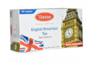 Черный чай Victorian English Breakfast 100пак