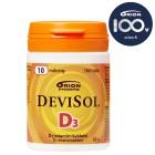 Жевательные таблетки D3 Devisol (фруктовый вкус) 10мкг, 100табл.
