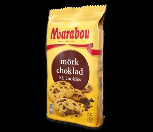 Печенье Marabou Cookies Mörk choklad с кусочками темного шоколада 184 гр.