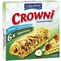 Батончики мюсли Crownfield Crowni с орехами 6 шт x 25 гр.