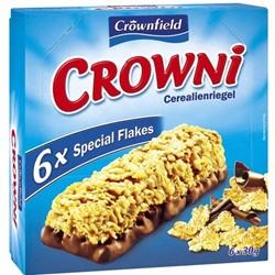 Батончики мюсли Crownfield Crowni с молочным шоколадом 6 шт x 25 гр.