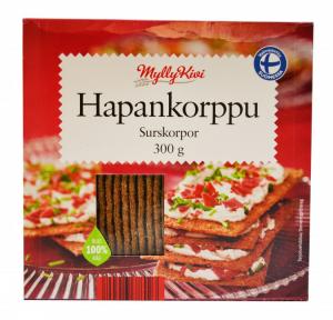 Хлебцы ржаные MyllyKiwi HAPANKORPPU 300гр