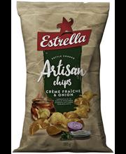 Картофельные чипсы Estrella Artisan Creme Fraiche & Onion 180гр.