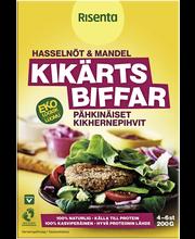 Вегетарианские бургеры Luomu Pähkinäiset Kikhernepihvit  Risenta 200гр