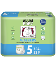 Подгузники-трусики Muumi Baby Walkers 5, 7-15кг 22шт