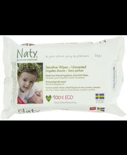 Детские влажные салфетки без запаха Naty, 56шт Eco