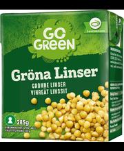 Зеленая чечевица GoGreen Grona Linser 285гр