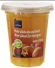 Персики в виноградном соке Rainbow Persikkakuutiot  400/250гр