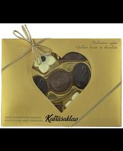 Набор шоколадных конфет Сердце Kultasuklaa (ручная работа)140гр
