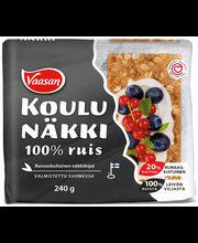 Ржаные хлебцы  VAASAN KOULUNÄKKI 100% Ruis 240гр