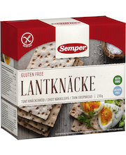Хлебцы тонкие без глютена Semper Lantknacke 215гр
