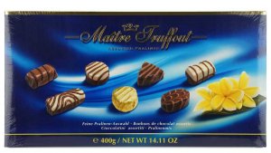 Конфеты Maitre Truffout Assorted Pralines Blue 400гр