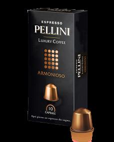 Кофе в капсулах PELLINI LUXURY COFFEE ARMONIOSO 10шт.