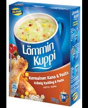 Куриный суп с макаронами Lämmin Kuppi Kermainen Kana-Pastakeitto 3 пакетика по 25гр