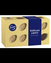 Печенье листочки с шоколадом Fazer Suklaalehti 185гр