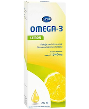Рыбий жир со вкусом лимона  Lysi Omega-3 Lemon 240мл
