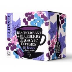 Чай Clipper органический фруктовый с черной смородиной и черникой Luomu Mustaherukka & Mustikka tee 10пак.