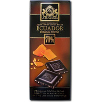 Шоколад J.D. Gross Ecuador Caramel с карамелью, черный 70% какао, 125гр
