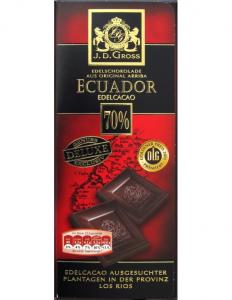 Шоколад J.D. Gross Ecuador черный 70% какао 125гр