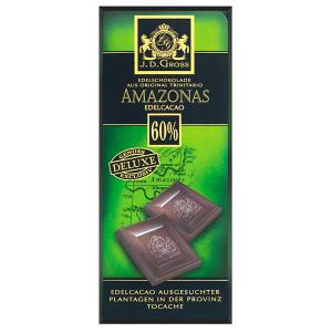 Шоколад J.D. Gross Amazonas черный 60% какао 125гр