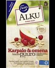 Каша овсяная с яблоком и клюквой FAZER Alku Karpalo & omena 400гр