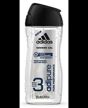 Гель для душа мужской Adidas 3in1 Adipure Men 250мл