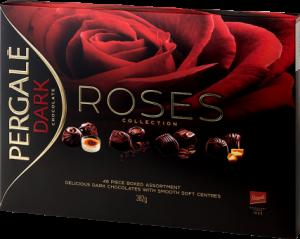 Набор шоколадных конфет PERGALĖ ROSES с темным шоколадом 382гр